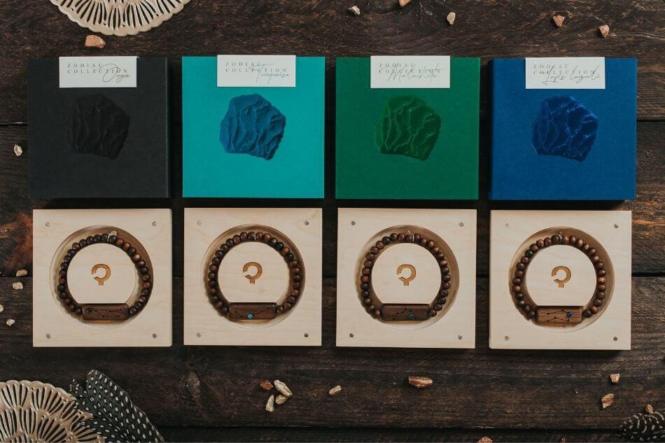 drewniane bransoletki ze znakiem zodiaku