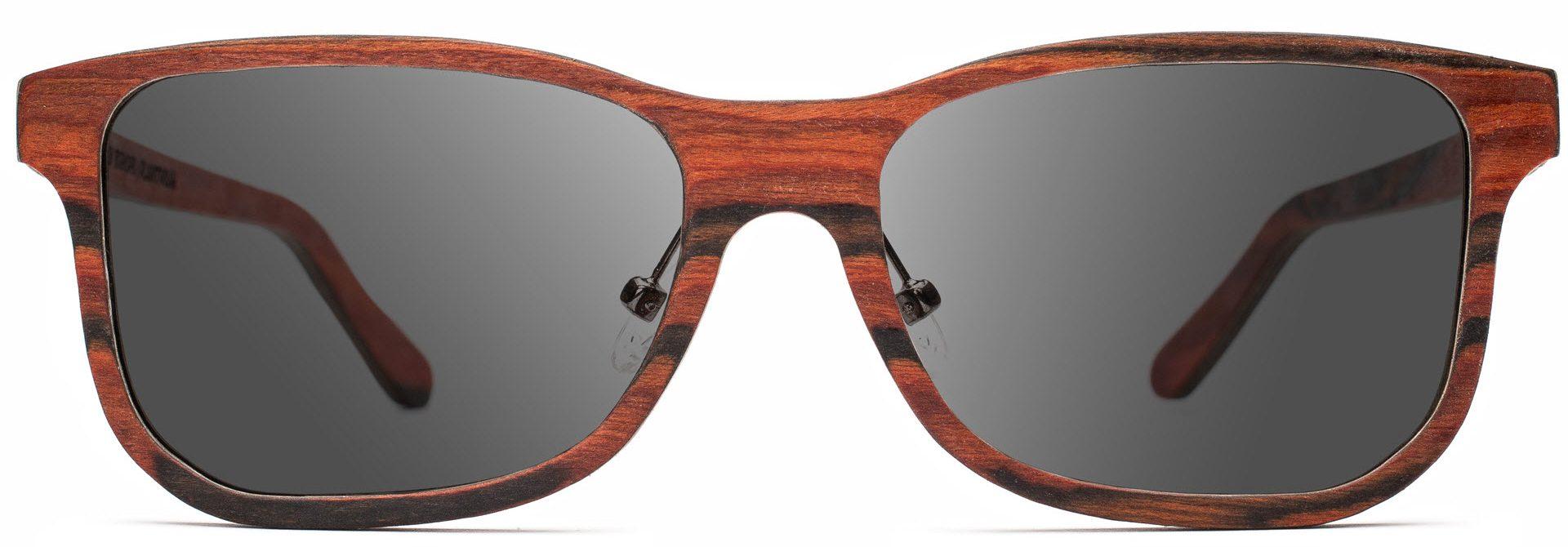 Drewniane okulary Pure Series – Rosewood – Grey 1
