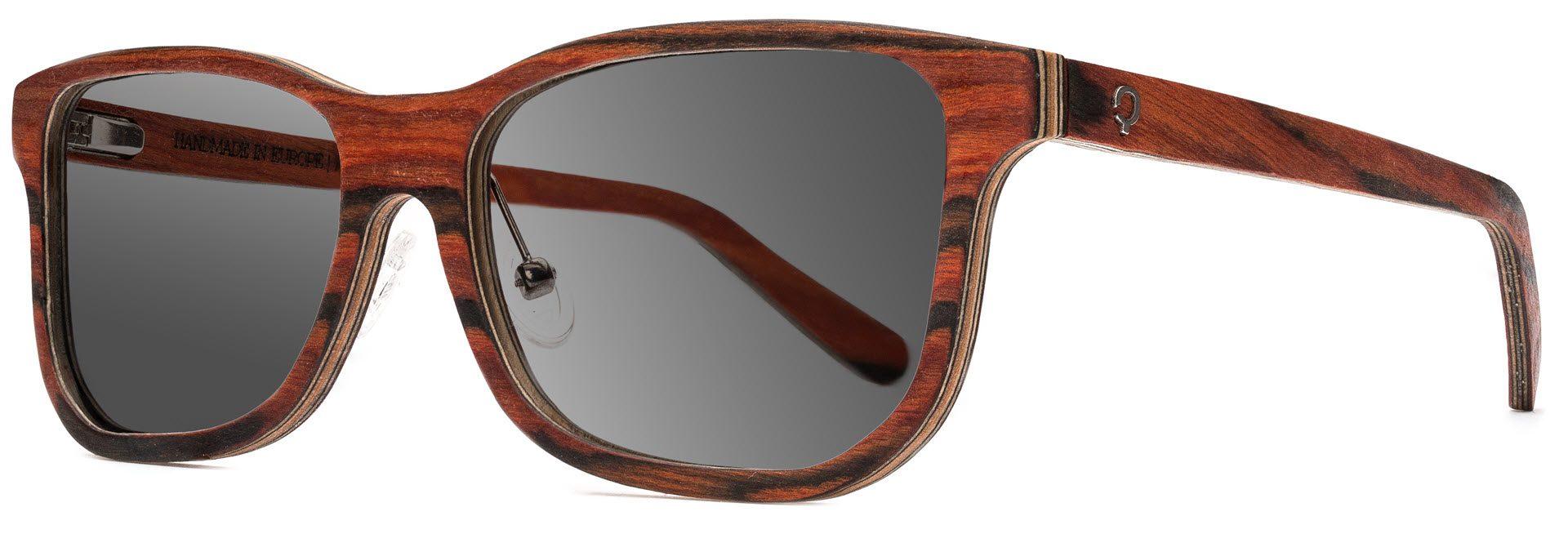 Drewniane okulary Pure Series – Rosewood – Grey 2