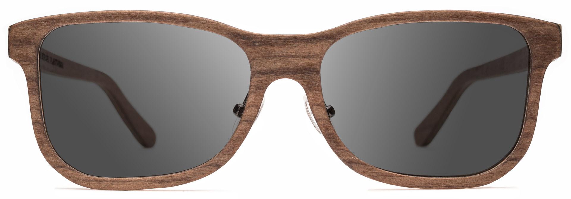 Drewniane okulary Pure Series – Walnut – Grey 1