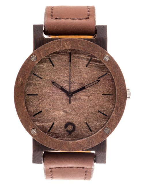 drewniany zegarek Raw Double Copper Heban