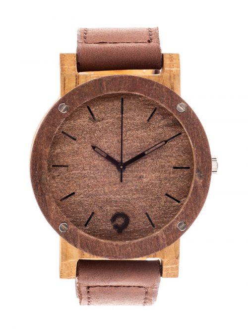 drewniany zegarek Raw Double Copper Dąb