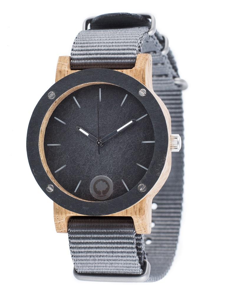 Drewniany zegarek Raw Double Oak 2