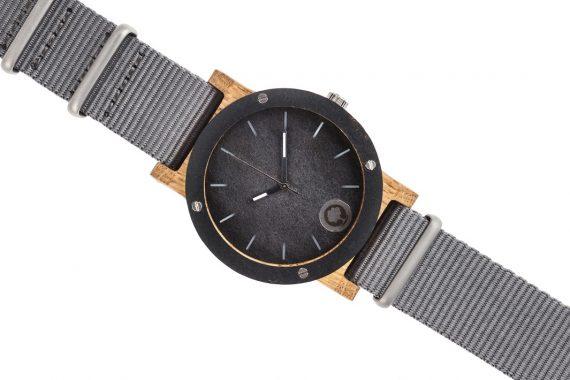Drewniany zegarek Raw Double Oak 3