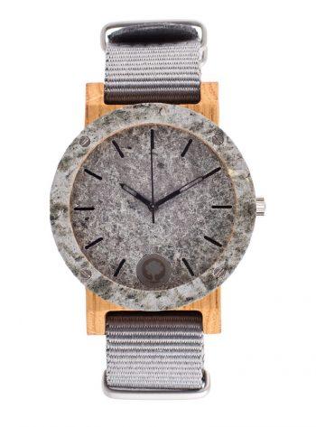 drewniany zegarek Raw Double Silver Dąb