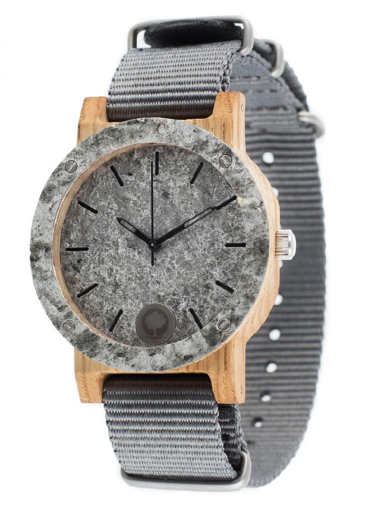 Drewniany zegarek Raw Silver Oak 2