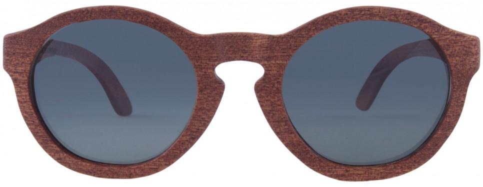 Drewniane okulary Retro Mahogany Grey 1