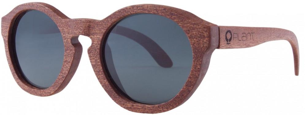 Drewniane okulary Retro Mahogany Grey 2