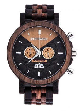 drewniany zegarek select chronograph