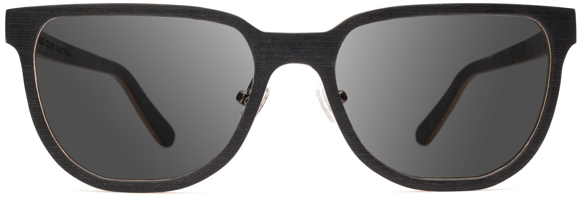 Drewniane okulary Sharp Series – Wenge – Grey 1