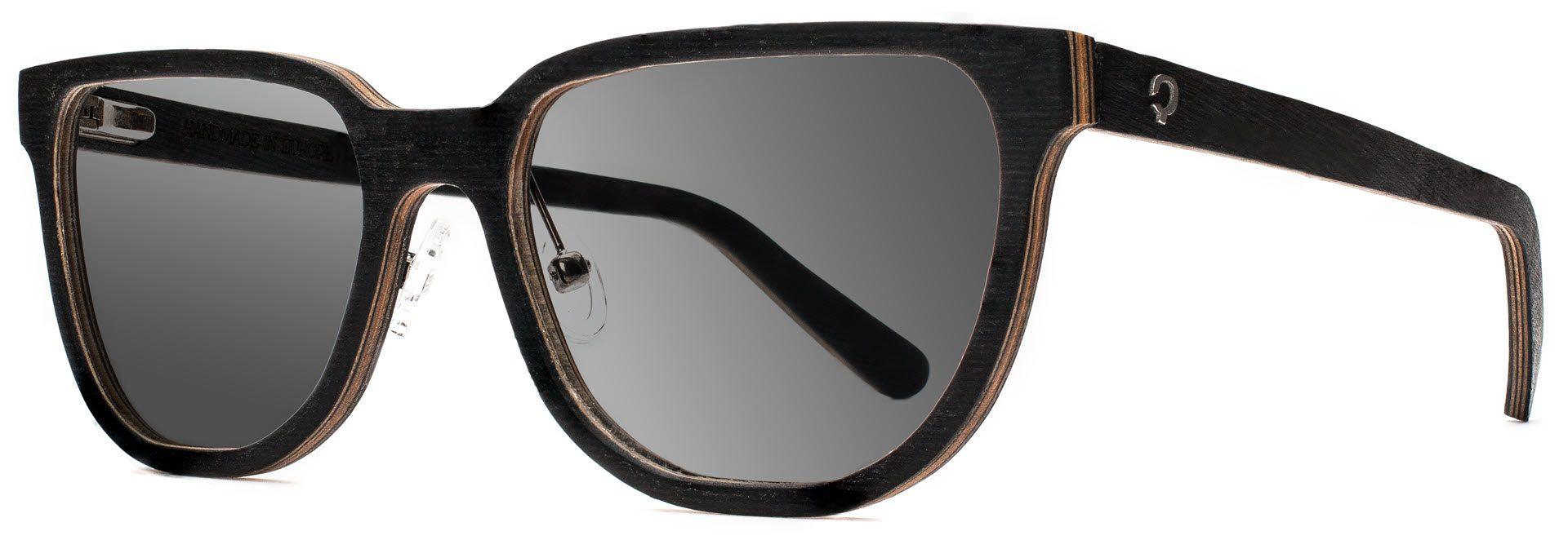 Drewniane okulary Sharp Series – Wenge – Grey 2