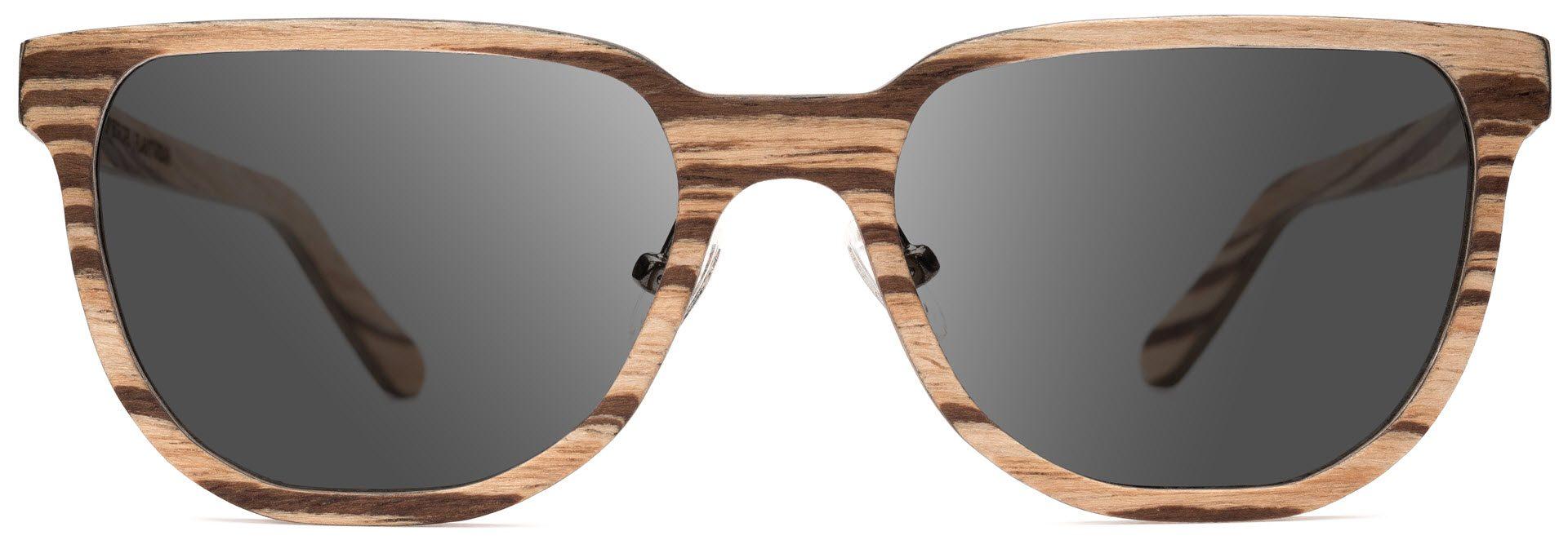 Drewniane okulary Sharp Series – Zebra – Grey 1