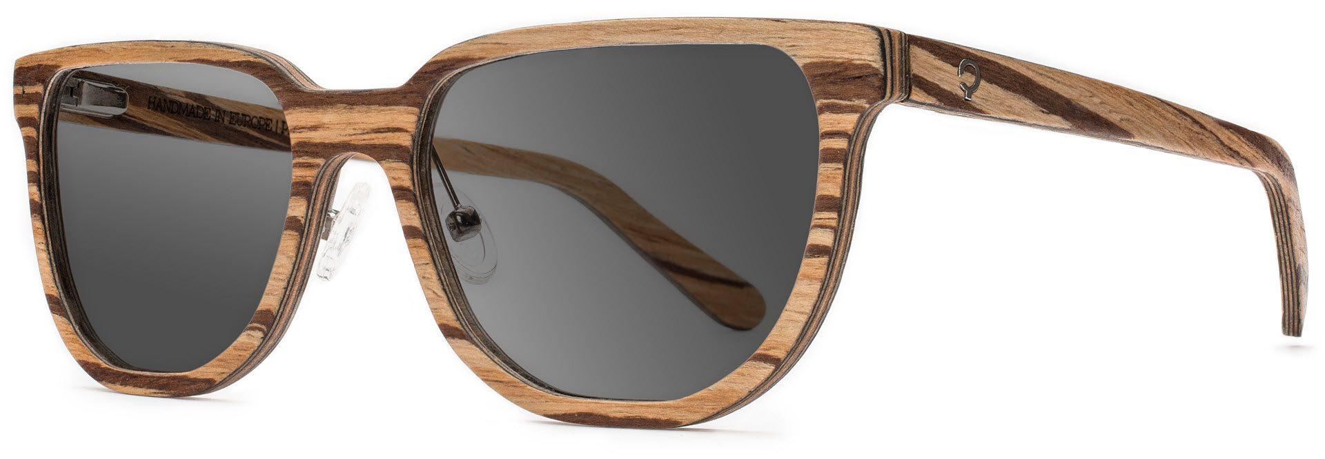 Drewniane okulary Sharp Series – Zebra – Grey 2