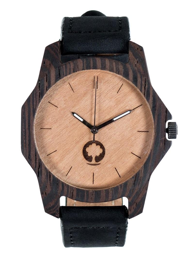 Drewniany zegarek Sierra Ebony 1