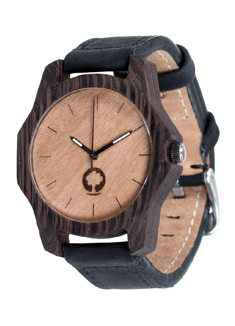 Drewniany zegarek Sierra Ebony 2