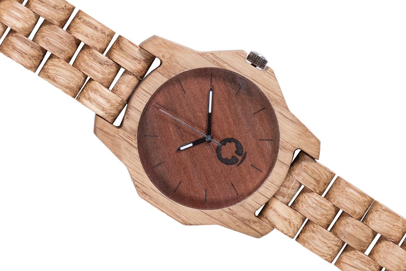 Drewniany zegarek Sierra Oak 3