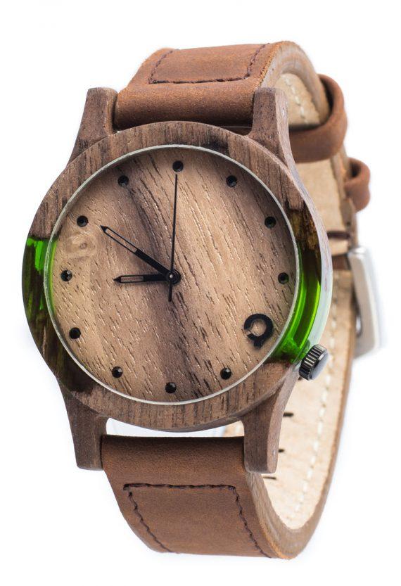 Drewniane zegarki Slick Series – Green 2