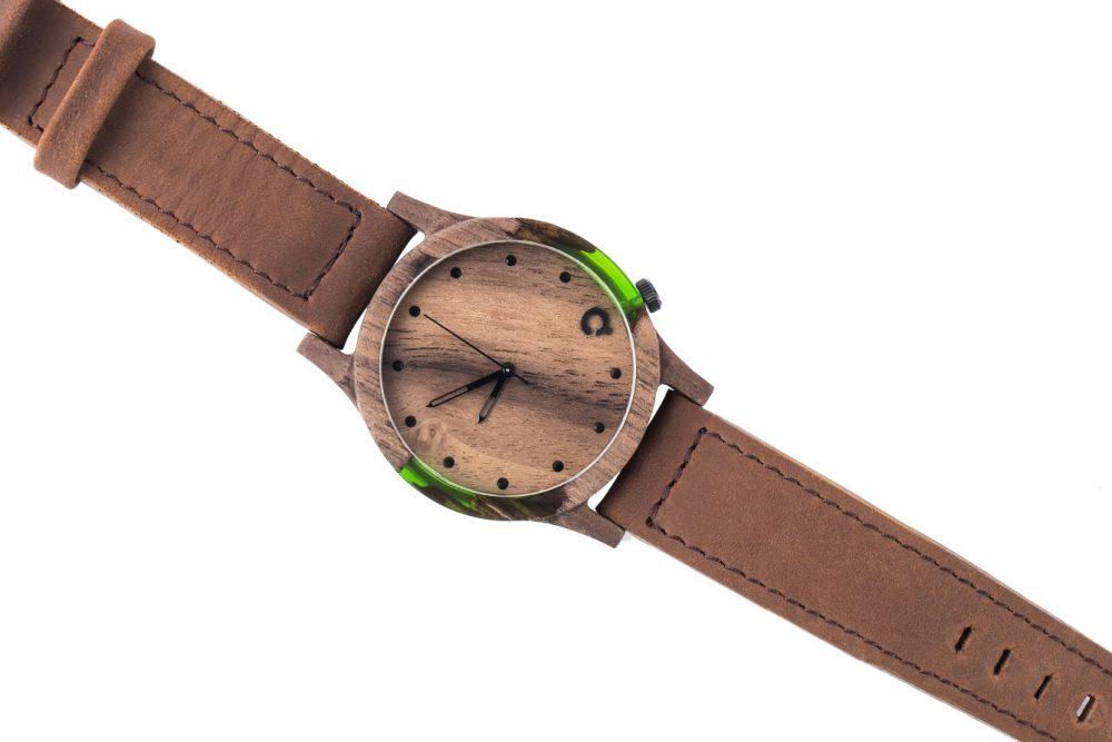 Drewniane zegarki Slick Series – Green 3