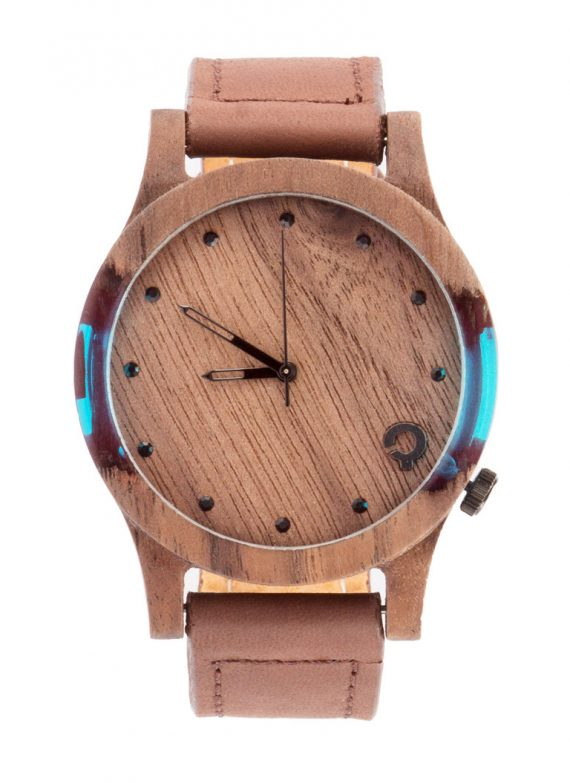 Zegarek drewniany slick-series-blue-1