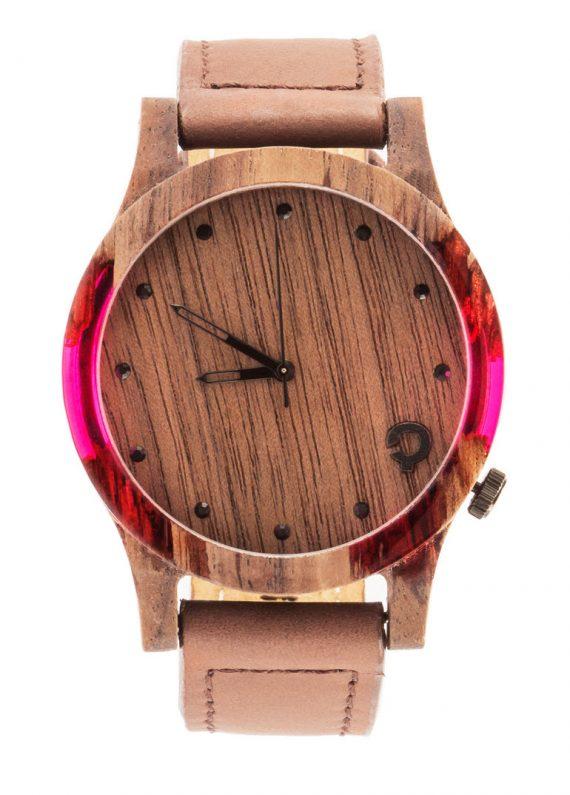 Zegarek drewniany slick-series-pink-1