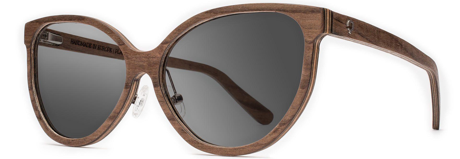 Drewniane okulary Tiger Series – Walnut – Grey 2