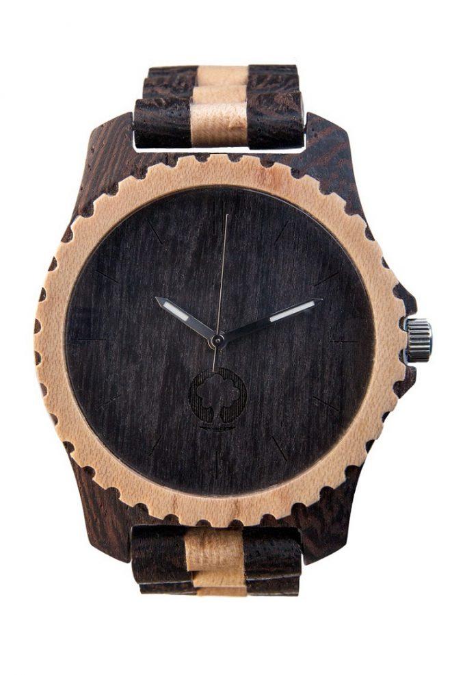 drewniany zegarek Urban Black & White