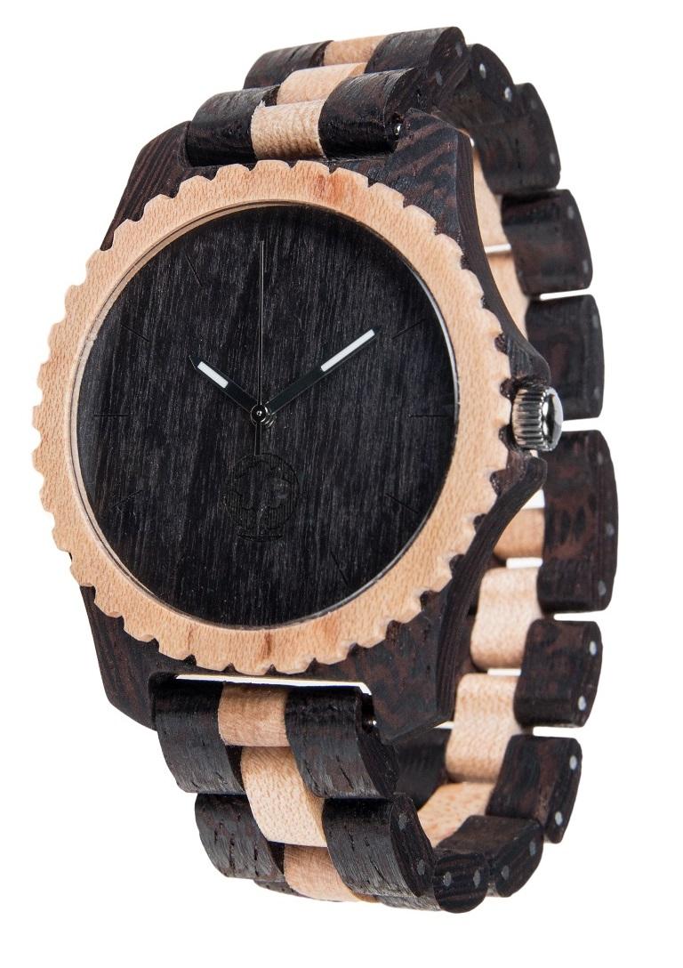 Drewniany zegarek Urban Series – Black & White 2