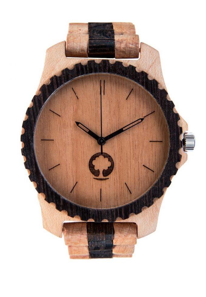 drewniany zegarek Urban White & Black