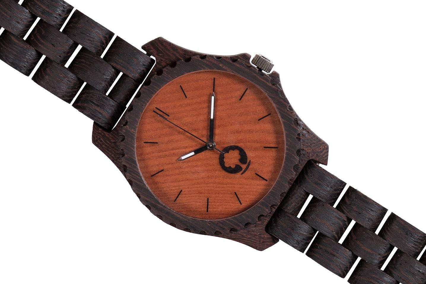 Drewniany zegarek Urban Wenge 3