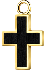 Krzyżyk złoto czarny klon