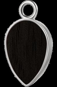 Łezka srebro czarny klon