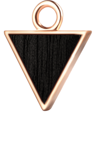Trójkąt różowe złoto czarny klon