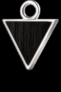 Trójkąt srebro czarny klon