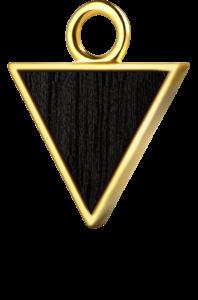 Trójkąt złoto czarny klon