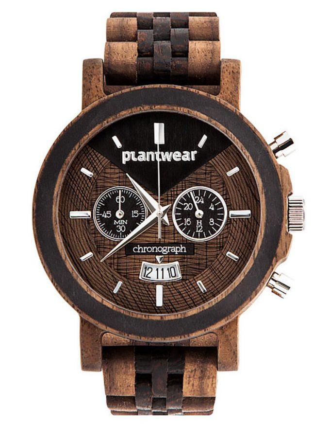 polski zegarek drewniany select chronograph orzech wenge plantwear