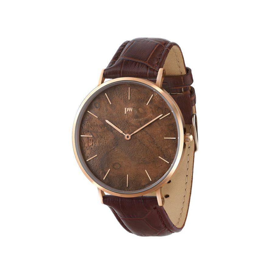 zegarek kolekcja blend Czeczota Rose gold brązowy pasek skórzany