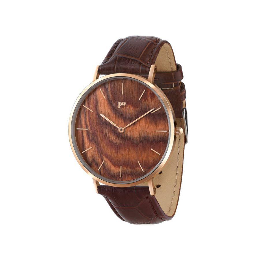 zegarek kolekcja blend muscato rose gold brązowy pasek skórzany
