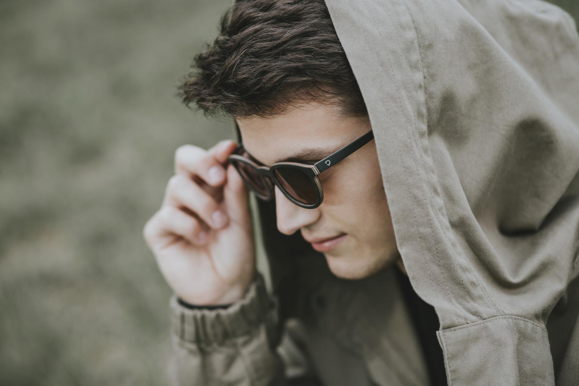 okulary drewniane ambition