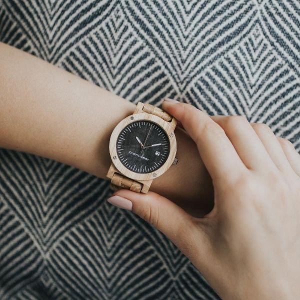 Drewniany zegarek Seria Raw Dąb