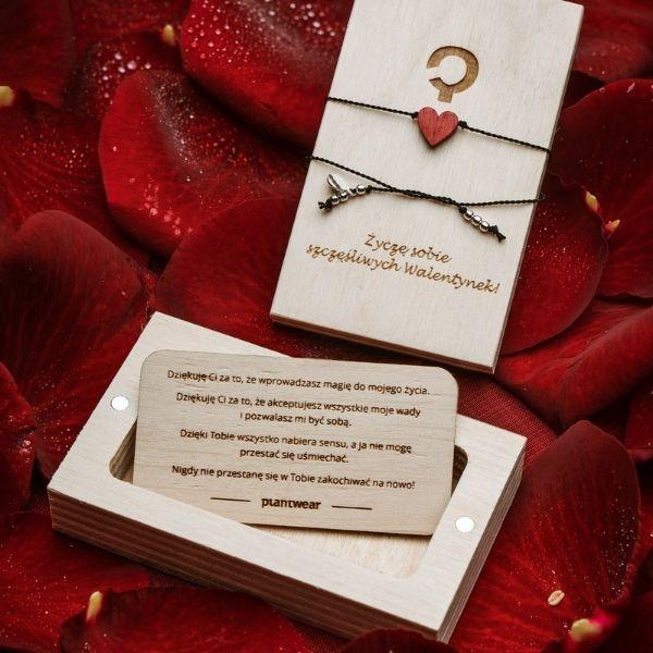 bransoletka szczęścia serce dla par