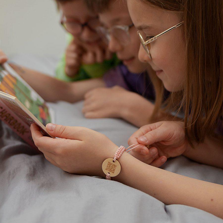 bransoletka dla dziecka - niezgubka