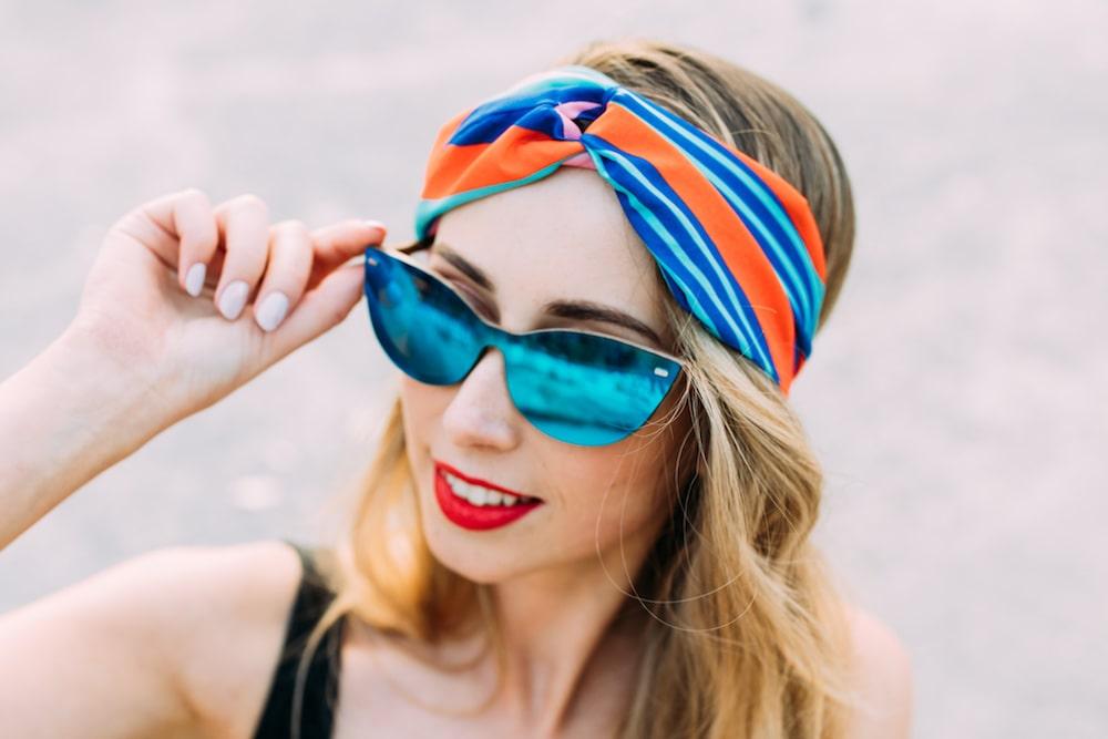 drewniane okulary przeciwsloneczne gemini niebieskie