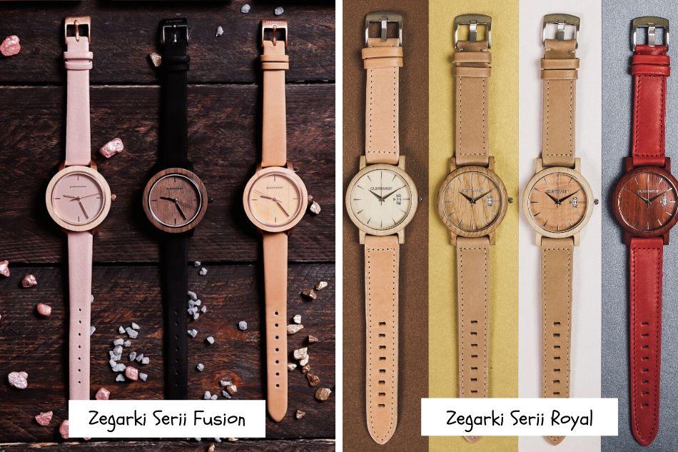 drewniane zegarki fusion i royal