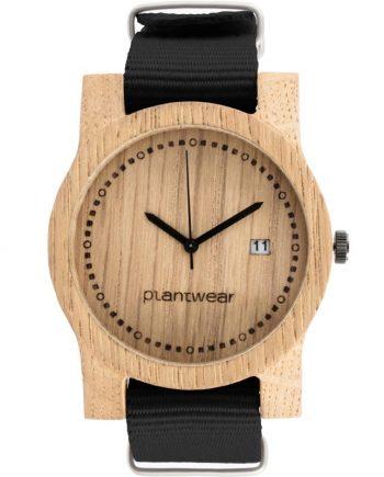 drewniany zegarek basic large datownik