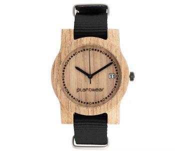 drewniany zegarek basic mini datownik