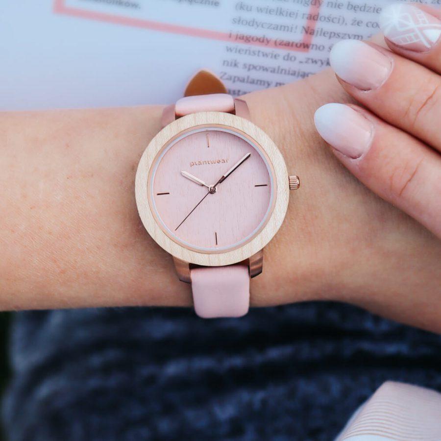 drewniany zegarek damski plantwear 4