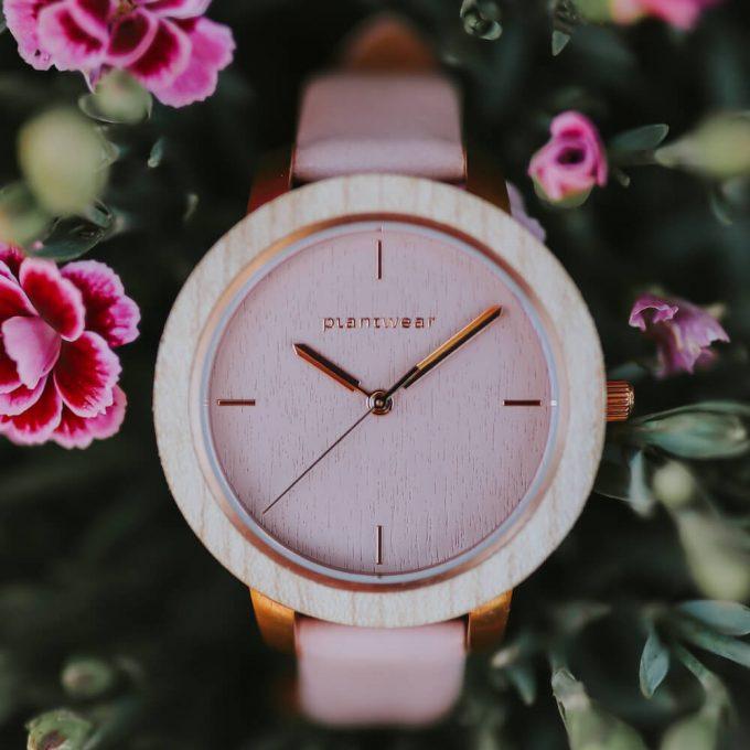 drewniany zegarek damski plantwear fusion aurora 1