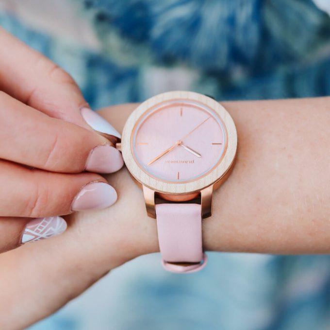 drewniany zegarek damski plantwear fusion aurora 3