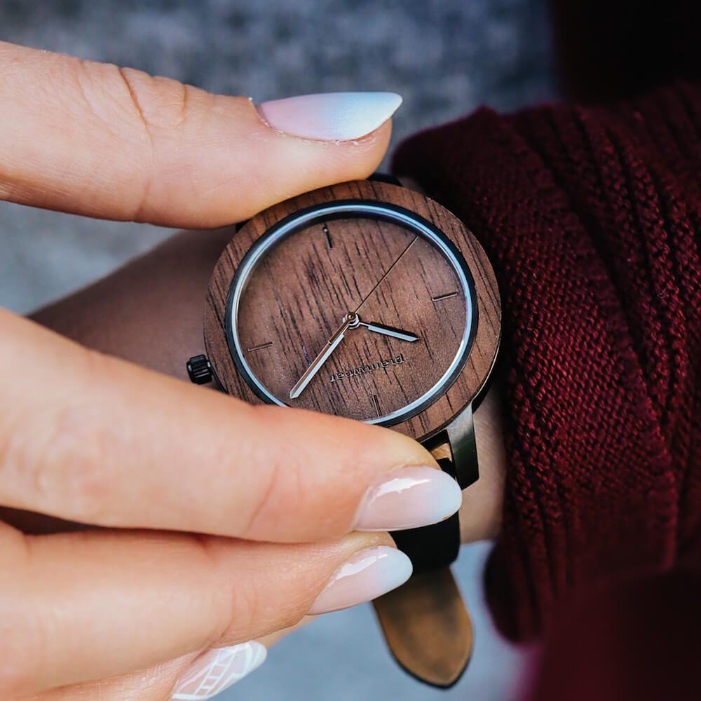 drewniany zegarek damski plantwear fusion dusk mini4