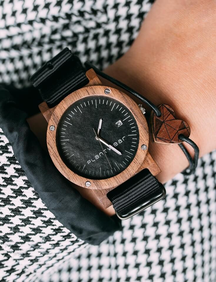 drewniany zegarek plantwear raw palisander